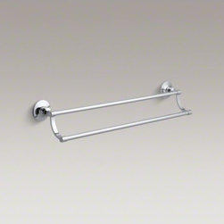 "KOHLER - KOHLER Archer(R) 24"" double towel bar - The timeless appeal of Archer accessories works beautifully with an array of bathroom styles. This elegant 25-inch double towel bar embodies Archer's classical design lines. Pair it with other fixtures from the Archer Collection for a unified look."