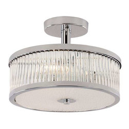 Trans Globe Lighting - Trans Globe Lighting 10150 PC Semi Flushmount In Polished Chrome - Part Number: 10150 PC
