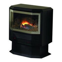 Empire Comfort - Mantis Bay Window Pedestal Package - Natural Gas - The Mantis stands alone as the most efficient fireplace you can buy. The concealed three-stage heat exchanger captures more than 90 percent of the heat energy from the burner and directs this warm air into your home - not up the flue. With so much of its heat extracted, the exhaust can be vented outdoors in conventional PVC piping - saving money, labor, and space on installation compared to traditional direct-vent systems.