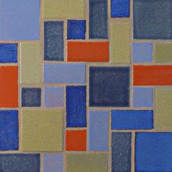 Savvy Squares - Savvy Squares - 1013 Denim, 23 Sapphire Blue, 1050 Oregano, 1054 Cantaloupe, 20 Light Blue