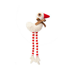 OOTS! - Sam Duck Jr. Stuffed Toy - This duck's long striped legs will quack you up and provide a much-loved child with a whimsical stuffed friend. At the end of a long day his human friend can tuck this charming duck into his own very own cardboard bed made from his original packaging.