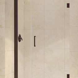 """Dreamline - Unidoor 39 to 40"""" Frameless Hinged Shower Door, Clear 3/8"""" Glass Door - The Unidoor from DreamLine, the only door you need to complete any shower project. The Unidoor swing shower door combines premium 3/8 in. thick tempered glass with a sleek frameless design for the look of a custom glass door at an amazing value. The frameless shower door is easy to install and extremely versatile, available in an incredible range of sizes to accommodate shower openings from 23 in. to 61 in.; Models that fit shower openings wider than 31 in. have an adjustable wall profile which allows for width or out-of-plumb adjustments up to 1 in.; Choose from the many shower door options the Unidoor collection has to offer for your bathroom renovation."""