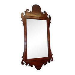 Consigned Federal-style Mahogany Mirror C.1780 - Unusual Federal-style mirror circa 1780 with antique mirror in tact. Antique 18th century. Very good condition.