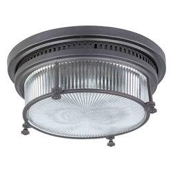 Maxim Lighting - Maxim Lighting 25000CLBZ Hi-Bay Bronze Flush Mount - 2 Bulbs, Bulb Type: 60 Watt Incandescent