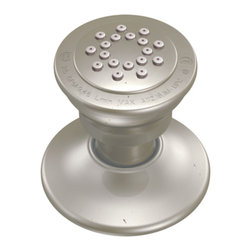 "Moen - Moen A501AN Antique Nickel Individual Body Spray - Moen A501AN is an individual Body Spray, with single spray function. Moen A501AN is part of the Vertical Spa bath collection. Moen A501AN brass swivel ball assembly swivels 21 degrees in any direction and has an Antique Nickel finish. Moen A501AN fits onto 1/2"" IPS. Single spray function is designed to deliver 1.75 GPM max. at 80 psi. Antique Nickel is an exclusive finish from Moen and provides style and durability. Moen A501AZ has a one year warranty against material and manufacturing defects, certified to ASME A112.18.1/CSA B125."