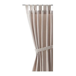 Lenda Pair of Curtains With Tiebacks, Light Beige - I actually just hung these beautiful Lenda curtains in my own home. Although they are 100 percent cotton, they have the look and feel of linen, and for a fraction of the cost.