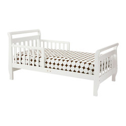Sleigh Toddler Bed, White