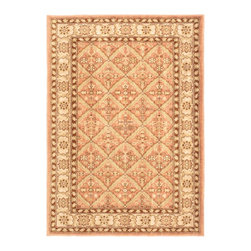 "Torabi Rugs - Machine made Lotus Garden Espresso Copper Polypropylene Rug 4'0"" x 5'7"" - Stylish designed rugs that are designed to provide high levels of comfort and practicality. Reminiscent of the famous American Sarouk designs of the William Morris rugs, the Lotus Garden series is a unique collection of power-loomed heat set two ply yarn rugs that evoke a sense of the past in modern-day colors and interpretations."