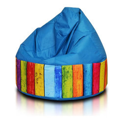 Turbo BeanBags - Beanbag Cake Modern, Blue And Dg3, Filled Bag - Cake modern is a modern stylish seat from Turbo BeanBags.