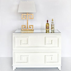 Pagoda White Lacquer Chest - I love the high-gloss white finish on this dresser.