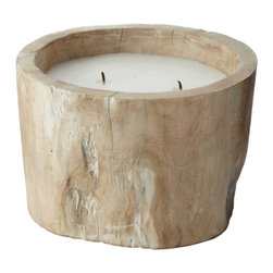 Lazy Susan - White Pepper Log Small Candle - White Pepper Log Small Candle