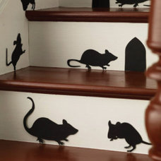 Contemporary Wall Decals Halloween Mice Silhouettes