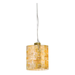 Naturals 1-Light Pendant, Yellow-Cable