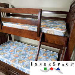 Innerspace - Innerspace Balloon Bunk Bed/ Dorm Room 5-inch Twin-XL-size Foam Mattress - Perfect for a bunk bed, this InnerSpace mattress features high-density foam construction. The durable damask cover is made to last, featuring 5-inches of polyurethane foam and built-in FlameWatch flame retardant technology.