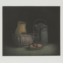 Tomoe Yokoi, Watering Jug and Brush, Mezzotint - Artist:  Tomoe Yokoi, Japanese (1942 - )