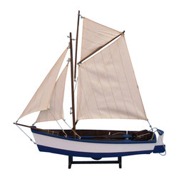 """Handcrafted Model Ships - Yarmouth Cutter 17"""" - Wooden Model Fishing Boat - Not a model ship kit"""
