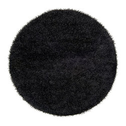 Surya - Surya Shag Vivid Black 10'x10' Round Area Rug - The Vivid area rug Collection offers an affordable assortment of Shag stylings. Vivid features a blend of natural Black color. Handmade of 100% Polyester the Vivid Collection is an intriguing compliment to any decor.