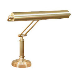 House of Troy - Piano Lamp - House of Troy P15-80-51 - Satin Brass Finish. 18H x 15W. Takes two 40 watt T10 bulbs (not included). Weight: 14 lbs. By House of Troy