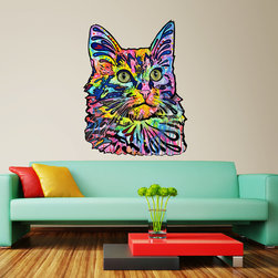 My Wonderful Walls - Angora Cat Wall Sticker - Decal Cut Out, Small - - Angora Cat graphic by Dean Russo