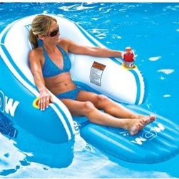 World of Watersports Hideaway Lounge - If you take your relaxing seriously, then you'll want to start stocking up on drinks for the World of Watersports Hideaway Lounge. This ergonomically designed lounge features a high back and ultra-comfy bottom. Oversized arm rests sport two built-in cup holders. The backrest conceals a large zippered storage compartment that will keep your chill-out time well-stocked past sunset. Constructed of heavy-gauge PVC, this lovely lounge is built to outlast even your best bikini.Founded in 2010 by Leroy Peterson, WOW is now the leader in cutting-edge water sport accessories. Committed to quality construction and innovative ideas, WOW has pioneered a wide variety of ski tubes and accessories designed to put the functionality in your summer water fun. WOW has developed a whole new generation of towables that are exciting, safe, and affordable.