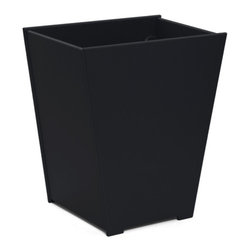 Loll Designs - Taper Planter 15 Gallon, Black - The Loll Flora Collection was created to work in a variety of outdoor garden settings. The recycled and recyclable poly material is made to withstand the test of time and extreme weather. In addition, the joinery on our modern containers allow for a slow, seeping drainage and holes can easily be drilled in the bottom if desired. All pieces are flat-packed with simple, fun, and intuitive assembly.
