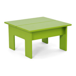 Loll Designs - Lollygagger Ottoman, Leaf Green - The Lollygagger Ottoman (Side Table) is an integral part of our Lollygagger family collection. This is a versatile little piece that works nicely as an Ottoman with the Lollygagger Lounge or Sofa and will even work as a stool for the smaller folks. It's also perfectly sized as a Side Table for the Lollygagger Chaise.