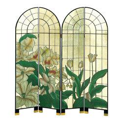 Wayborn - Wayborn 4 Panel Arched Window of Fragrance Room Divider - Wayborn - Room Dividers - 1196 -