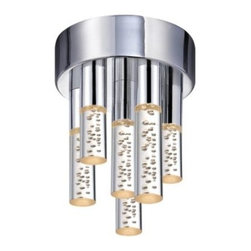 Champagne Staccato LED Flushmount by Sonneman Lighting -