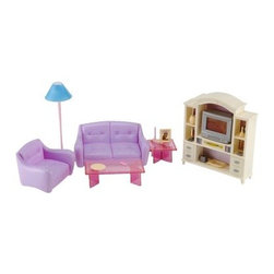 Fortune East 6-in-1 Dollhouse Furniture - The Fortune East 6-in-1 Dollhouse Furniture is the ideal set to accessorize any style of dollhouse. This six-room furniture set is constructed of sturdy plastic and features fun colors that accent each room beautifully. All the essentials your daughter needs to decorate her stylish doll home. Extra accessories sold separately. Some assembly required.About Fortune EastSince 2002, Fortune East has been developing innovative products that allow children to experience beneficial play with activities that provide limitless joy, imagination, and creativity. This company specializes in designing and manufacturing high-quality wooden preschool toys, wood and cardboard dollhouses, along with furniture and accessories. Fortune East has established relationships with reliable manufacturers, and only works with factories that pass the highest ethical and quality control audits laid down by the top retailers around the world. All items Fortune East produces are in accordance with or exceed European and US standards.