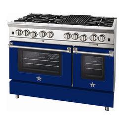 "BlueStar Platinum Series: 48"" Range - 48"" BlueStar Platinum Range in Ultramarine Blue (RAL 5002)"
