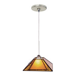 Oak Park Amber Tech Lighting Mini Pendant Light