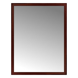 """Posters 2 Prints, LLC - 49"""" x 63"""" Ansley Mahogany Custom Framed Mirror - 49"""" x 63"""" Custom Framed Mirror made by Posters 2 Prints. Standard glass with unrivaled selection of crafted mirror frames.  Protected with category II safety backing to keep glass fragments together should the mirror be accidentally broken.  Safe arrival guaranteed.  Made in the United States of America"""