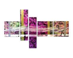 Matthew's Art Gallery - Metal Wall Art Abstract Modern Contemporary Sculpture Large Decor Purple wave - Name: Purple Wave