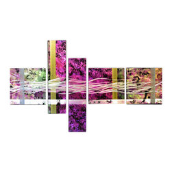 Matthew's Art Gallery - Metal Wall Art Abstract Modern Contemporary Sculpture Large Decor Purple wave - Name: Purple Wave