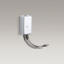 KOHLER - KOHLER Double Wall-mount foot control - Convenient wall-mount installation and solid brass construction define this double-pedal foot control. A self-closing mixing valve and loose-key stops make it an easy choice.