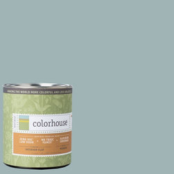 Inspired Flat Interior Paint, Water .04, Quart - Colorhouse paints are zero VOC, low-odor, Green Wise Gold certified and have superior coverage and durability. Our artist-crafted colors are designed to be easy backdrops for living. Colorhouse paints are 100% acrylic with no VOCs (volatile organic compounds), no toxic fumes/HAPs-free, no reproductive toxins, and no chemical solvents.