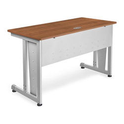 OFM - OFM 24 X 48 Computer Table in Cherry - OFM - Computer Desks - 55103CHY - A modern looking and incredibly strong modular computer desk this unit goes together in a snap with no tools required! Standard features include an underside modesty panel adjustable glides and a cable management system.