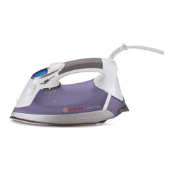 Singer - Singer Expert Finish EF.04 Steam Iron - This Expert Finish steam iron by Singer features an attractive frosted purple and shiny white upper. With nine heat settings and multiple steam settings,this anti-drip iron is the perfect addition to any home.