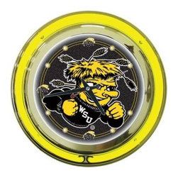 Trademark Global - Trademark Global 14 in. Wichita State University Neon Wall Clock LRG1400-WSU - Shop for Wall Decor at The Home Depot. This Officially Licensed NCAA Neon Clock is a great wall display for your team. This is a very high quality double neon clock with raised bubble acrylic front cover. Great for gifts and recreation decor.