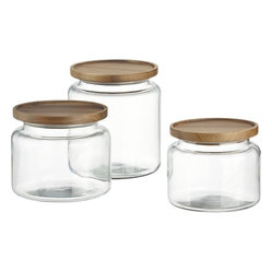 Montana Acacia and Glass Jars
