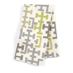 Gray & Citron Modern Cross Motif Custom Napkin Set - Our Custom Napkins are sure to round out the perfect table setting'whether you're looking to liven up the kitchen or wow your next dinner party. We love it in this gray & chartreuse modern geometric in mediumweight cotton.  this may just sum up what your living space is missing.