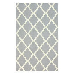 """nuLOOM - Transitional 7' 6""""x9' 6"""" Lt Grey Hand Hooked Area Rug Moroccan - Made from the finest materials in the world and with the uttermost care, our rugs are a great addition to your home."""