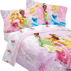 Store51 LLC - Disney Princess Full Bed Set Dreams Bloom Comforter Sheets - FEATURES: