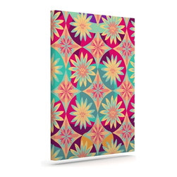 "Kess InHouse - Nika Martinez ""Happy Flowers"" Floral Abstract Wrapped Art Canvas (24"" x 20"") - Bring your outdoor patio to life with this artistic outdoor canvas wrap featuring gorgeous artwork by KESS InHouse. These canvases are not only easy to hang and remove but also are the perfect addition to your patio collection. These canvases are stretched around a wooden frame and are built to withstand the elements and still look artistically fabulous. Decorating your patio and walls with these prints will add the splash of art and color that is needed to bring your patio collection together! With so many size options and artwork to choose from, there is no way to go wrong with these KESS Canvas Wraps!"