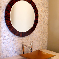 Mediterranean Powder Room by Design Detail