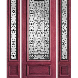 """IR Iron Insulated Entry Doors Model  # - Our Iron Insulated doors are very unique.  Each door contains hand forged iron insulated between two panes of tempered glass.  this makes the unit beautiful and easy to clean.  Units can be made as single doors, double doors, or doors with side lites.  80"""" tall doors are """"Full Lite"""" and 96"""" tall doors are ¾ Lite with a rich panel at the bottom.  All doors have raised moulding standard, and a carved moulding can be added as an option."""