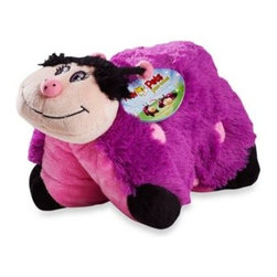 "Pillow Pets - Pillow Pets Pee-Wee in Lady Bug - This delightful plush pet doubles as a cozy pillow, combining the functionality of a pillow with the serenity of a stuffed animal. Just un-Velcro its belly and the pet becomes an 11"" pillow."