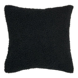 Surya Rugs - Caviar Soft 18 x 18 Pillow - This solid colored pillow is soft to the touch. The color black accents this decorative pillow. This pillow contains a poly fill and a zipper closure. Add this pillow to your collection today.  - Includes one poly-fiber filled insert and one pillow cover.   - Pillow cover material: 100% Polyester Surya Rugs - P0259-1818P
