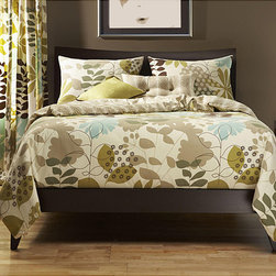 """SIS Covers - English Garden 6-pc Queen-size Duvet Cover and Insert Set - English Country meets Contemporary in this calming print in blues, greens and browns Features: -Available in Twin, Full, Queen, King and California King sizes. -Twin size set includes duvet cover with insert, standard sham, 16""""x16"""" accent pillow, and 26""""x14"""" accent pillow. -Full size set includes duvet cover with insert, 2 standard shams, 16""""x16"""" accent pillow, and 26""""x14"""" accent pillow. -Queen size set includes duvet cover with insert, 2 Queen sized shams, 16""""x16"""" accent pillow, and 26""""x14"""" accent pillow. -King size set includes duvet cover with insert, 2 King sized shams, 16""""x16"""" accent pillow, and 26""""x14"""" accent pillow. -California size set includes duvet cover with insert, 2 standard shams, 16""""x16"""" accent pillow, and 26""""x14"""" accent pillow. -100% Polyester. -Machine wash cold, tumble dry low."""