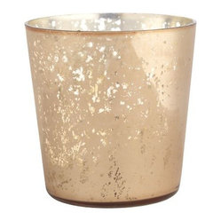 Gold Mercury Candleholder, Rose Gold